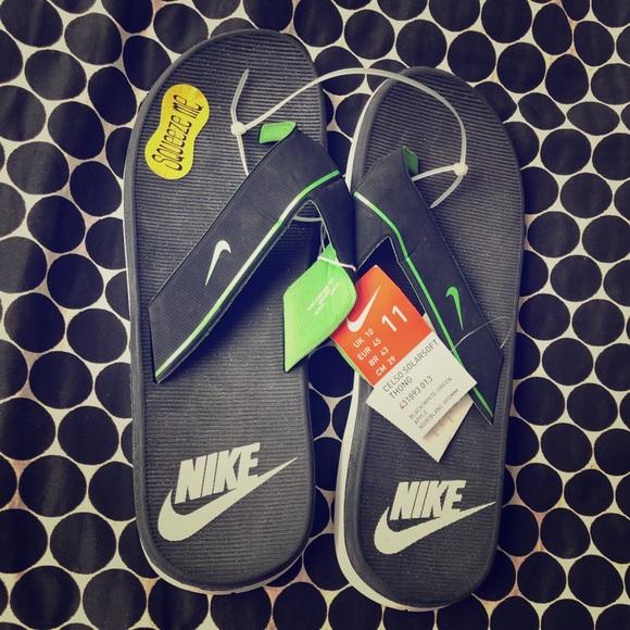 e2a14e2e9fa Nike Shoes   Mens Celso Solar Soft Flip Flops Slippers   Poshmark